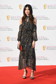 Gemma Chan hit the House of Fraser BAFTA TV Awards wearing a print dress with on-trend shoulder cutouts.