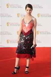 Anna Kendrick looked like a modern-day flapper girl in this multicolored paillette dress by Altuzarra at the House of Fraser BAFTA TV Awards.