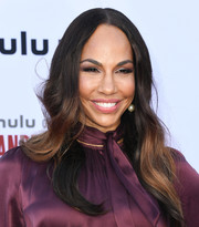 Amanda Brugel sported long, center-parted waves at the 'Handmaid's Tale' season 3 finale celebration.