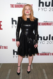 Elisabeth Moss looked fab in a sequined LBD by Alex Perry at the 'Handmaid's Tale' FYC event.