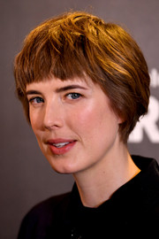Agyness Deyn gave us John Lennon vibes with this short 'do with blunt bangs at the premiere of 'Hard Sun.'