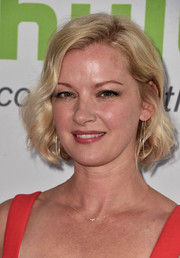 Gretchen Mol looked pretty with her curled-out bob at the Hulu TCA Summer Press Tour.