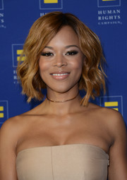 Serayah looked lovely with her short wavy 'do at the Human Rights Campaign Los Angeles Gala.