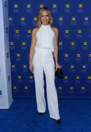 Maria Bello was casual-chic in a white halter top during the Human Rights Campaign Los Angeles Gala.