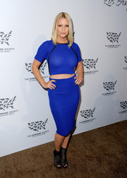 Carrie Keagan amped up the sexiness with a matching pencil skirt.