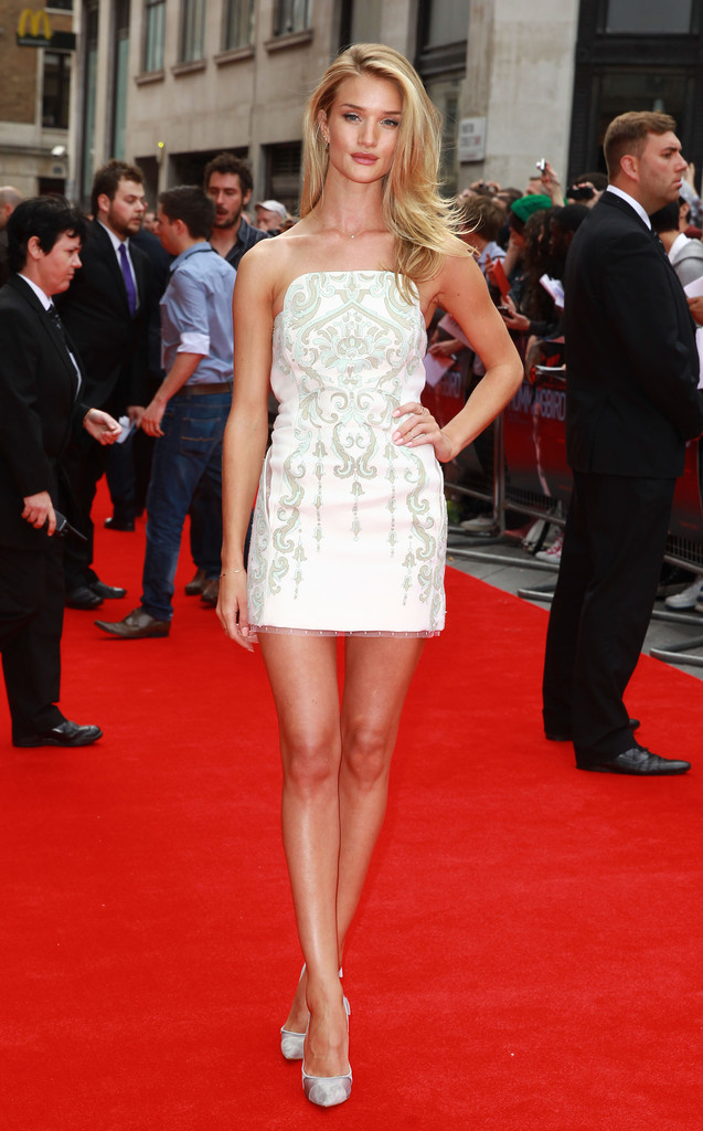 Rosie Huntington-Whiteley attends the UK Premiere of 'Hummingbird' at Odeon West End on June 17, 2013 in London, England.