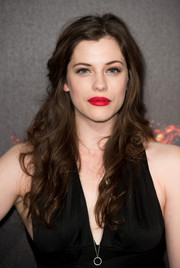 Katie McGrath looked sweet and youthful with her flowing waves during the 'Hunger Games' cast party in Cannes.