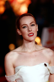 Jena Malone fixed her hair into a sleek ponytail for the 'Hunger Games: Mockingjay Part 1' premiere.'