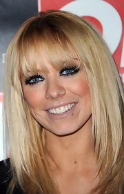 Liz Mcclarnon looked funky at the Hybrid and OK! Magazine party with her hair in super glossy layers.