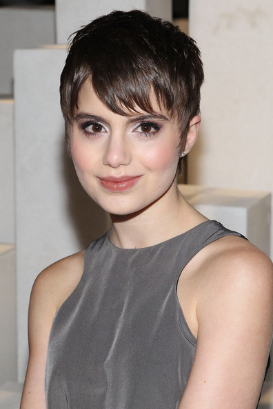 Sami Gayle channeled Audrey Hepburn with this cute pixie at the ICB by Prabal Gurung fashion show.
