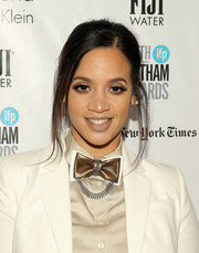 Dascha Polanco pulled her hair back into a loose ponytail for her Gotham Independent Film Awards look.