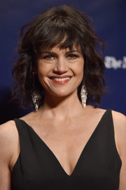 Carla Gugino sported a short curly style with wispy bangs at the 2017 Gotham Independent Film Awards.