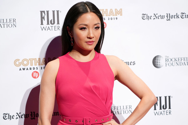 More Pics of Constance Wu Long Straight Cut (1 of 12) - Constance Wu Lookbook - StyleBistro [red carpet,skin,shoulder,beauty,hairstyle,cheek,chin,dress,neck,magenta,carpet,constance wu,new york city,cipriani wall street,ifp,29th annual gotham independent film awards]