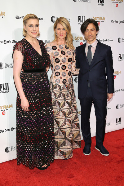 More Pics of Greta Gerwig Short Side Part (1 of 22) - Short Side Part Lookbook - StyleBistro [red carpet,red carpet,carpet,clothing,dress,event,premiere,flooring,fashion,formal wear,suit,noah baumbach,greta gerwig,laura dern,new york city,cipriani wall street,ifp,29th annual gotham independent film awards]