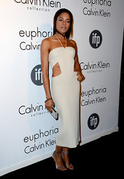 Naomie Harris rocked this halter that featured two side cutouts that showed off her toned tummy.