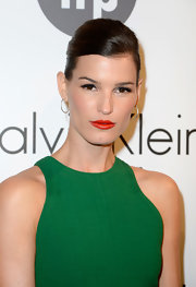 Hanneli Mustaparta topped off her look with an elegant teased ponytail.