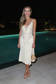 Harley Viera-Newton looked subtly sexy in a low-cut LWD during the Women in Film event in Cannes.