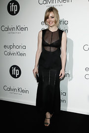 Melissa George got racy at the Women in Film celebration wearing this sheer black blouse.