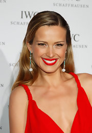 Petra Nemcova wore her straight glossy hair with a precise side part for the IWC Filmmakers Dinner.