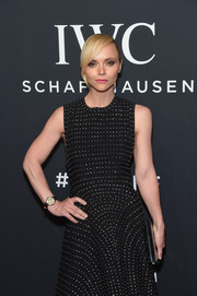 Christina Ricci teamed an IWC Schaffhausen watch with a studded LBD when she attended the 'For the Love of Cinema' gala.