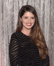 Katherine Schwarzenegger sported flowing side-parted tresses at the IWMF Courage in Journalism Awards.