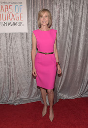 Willow Bay brightened up the IWMF Courage in Journalism Awards with this neon-pink dress.