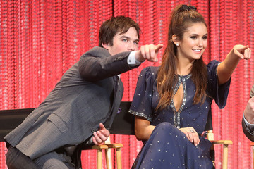 Ian Somerhalder Nina Dobrev 'The Vampire Diaries' Honored at PaleyFest