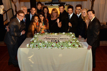 Ian Somerhalder Nina Dobrev The Vampire Diaries 100th Episode Celebration - Inside