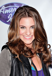 Rachel Mccord wore her long hair in gorgeous high-volume curls at the 'American Idol' 10th Season Top 24 Debut.