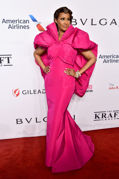 Iman Fishtail Dress [stock photography,clothing,pink,dress,carpet,red carpet,shoulder,fashion model,magenta,hairstyle,fashion,arrivals,carpet,iman,supermodel,17th annual an enduring vision benefit,red carpet,clothing,pink,elton john aids foundation,iman,new york,celebrity,red carpet,portrait,model,supermodel,stock photography]