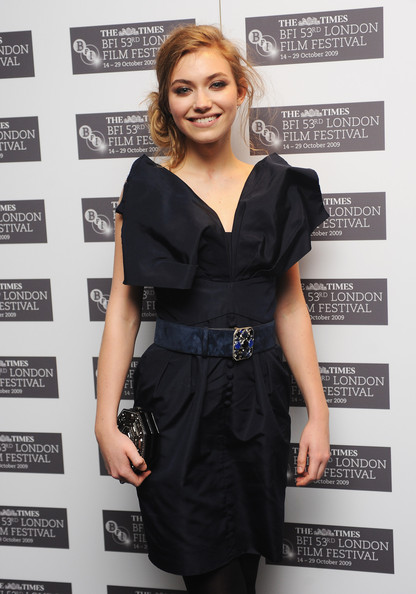 Imogen Poots Beaded Belt [red carpet,clothing,dress,little black dress,cocktail dress,fashion,photography,fashion design,premiere,carpet,formal wear,imogen poots,cracks,london,england,vue west end,times bfi 53rd,the times bfi london film festival,premiere]
