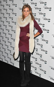 Millie Mackintosh went in style wwearing these knee-high boots to the InStyle Anniversary Party.