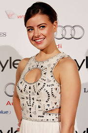 "April Rose Pengily showed off her classic bun while hitting the ""Instyle"" Awards in Australia."
