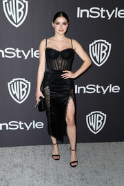Ariel Winter looked racy in a black sheer-panel corset dress by Epuzer at the InStyle and Warner Bros. Golden Globes after-party.