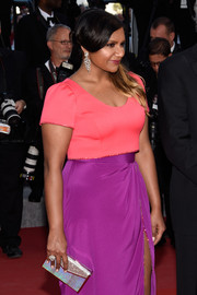 Mindy Kaling's silver Judith Leiber clutch added major sparkle to her look at the Cannes Film Festival premiere of 'Inside Out.'