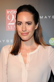 Louise Roe was fresh-faced at the InStyle 20th anniversary party wearing this simple half-up 'do.