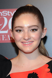 Willow Shields pulled her hair back into a tight ponytail for the InStyle 20th anniversary party.