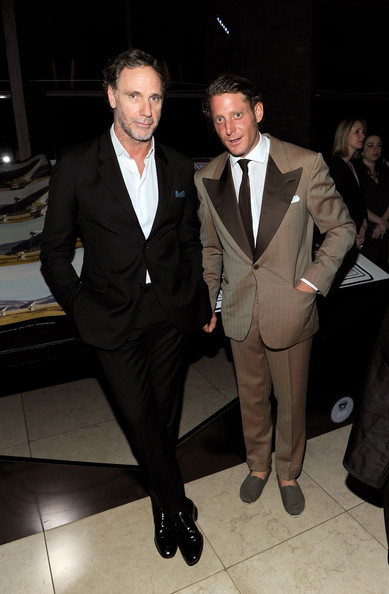 Lapo Elkann went for retro elegance with this two-tone suit at the International Herald Tribune's Luxury Business Conference.