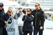 Meghan Markle twinned with her husband in their official Invictus Games jackets.