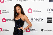 Irina Shayk Strapless Dress