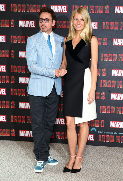 More Pics of Gwyneth Paltrow Evening Pumps (1 of 10) - Heels Lookbook - StyleBistro [iron man 3,event,premiere,suit,cocktail dress,little black dress,gwyneth paltrow,robert downey jr,london,england,the dorchester,photocall]