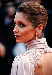 Cheryl Fernandez-Versini pulled her hair back into a sleek French twist for the 'Irrational Man' premiere in Cannes.