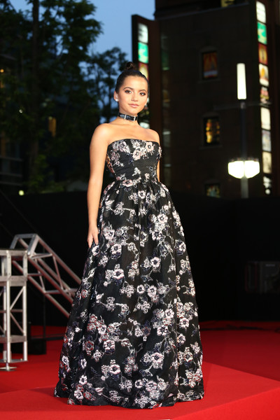 Isabela Moner Strapless Dress