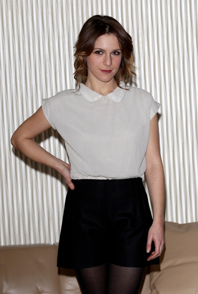 Isabella Ragonese Fitted Blouse [clothing,white,black,fashion,neck,tights,leg,waist,blond,shorts,milan,un altro mondo,actress,italy,terrazza martini,photocall,isabella ragonese]