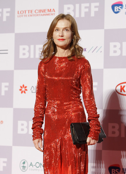 Isabelle Huppert Leather Clutch