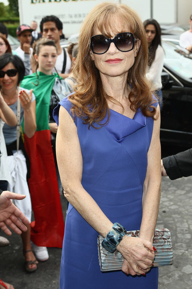 Isabelle Huppert Printed Clutch