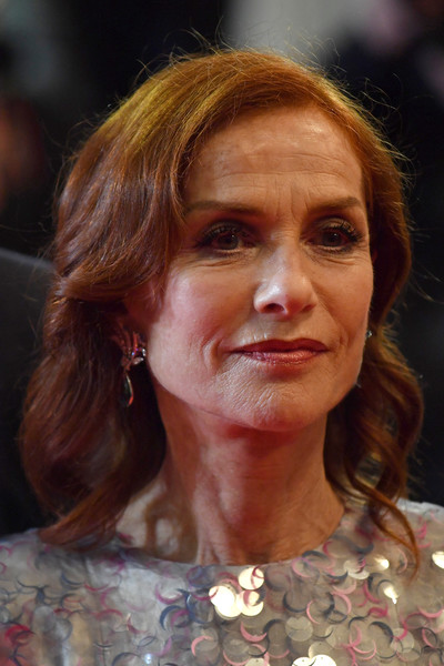 Isabelle Huppert Medium Wavy Cut [hair,face,hairstyle,chin,head,eyebrow,nose,human,forehead,lip,frankie,isabelle huppert,frankie red carpet,screening,france,cannes,the 72nd annual cannes film festival]