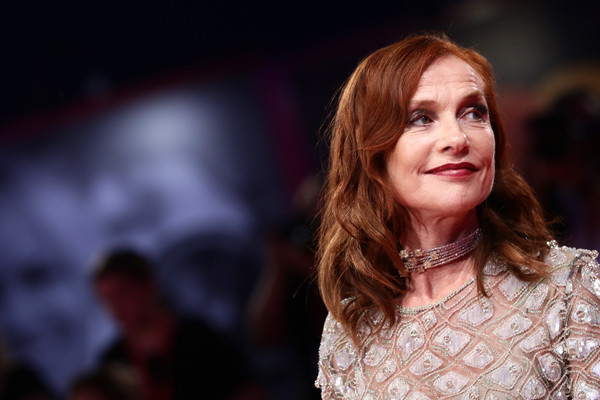 Isabelle Huppert Medium Wavy Cut [hair,face,beauty,fashion,hairstyle,human,red hair,brown hair,event,long hair,isabelle huppert,sala grande,red carpet,italy,venice,red carpet arrivals,76th venice film festival,filming]