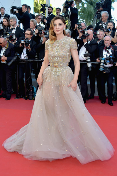 Clotilde Courau in Elie Saab