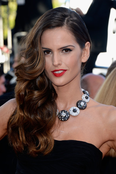 Izabel Goulart Red Lipstick